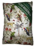 Kräuterkissen mit 8 verschiedenen Heilkräutern, Bezug Waschbar , Papagei Bunt ca. 20x24 cm, gefüllt mit Kräuter wie Hopfen , Melisse, Fenchel, Minze, Rosenblütenblätter, Lavendel, Ysop, Quendel